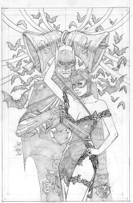 Balent surprise pencil cover for Batman 50