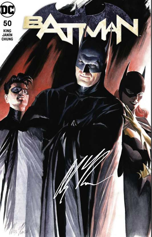 Batman 50 variant by Alex Ross, cover A The Bat Family