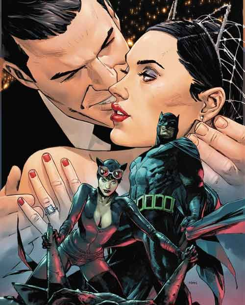 Batman 50 True Romance variant by Clay Mann