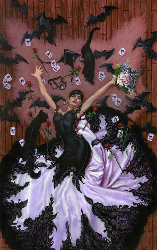 Batman 50 variant cover by Joe Jusko