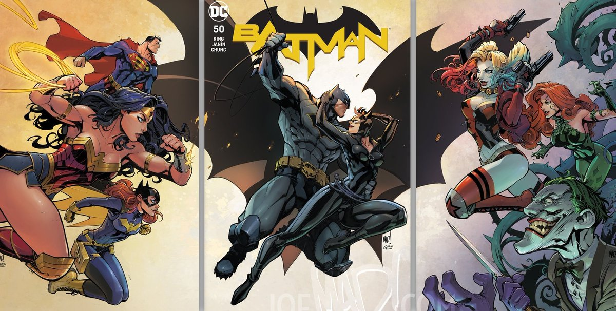 Batman 50 triptych variants by Joe Madureira