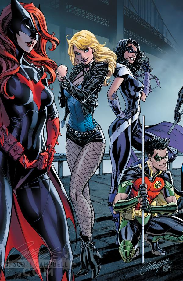 The Groom's Side, Cover B Robin, Huntress, Black Canary, and Batwoman