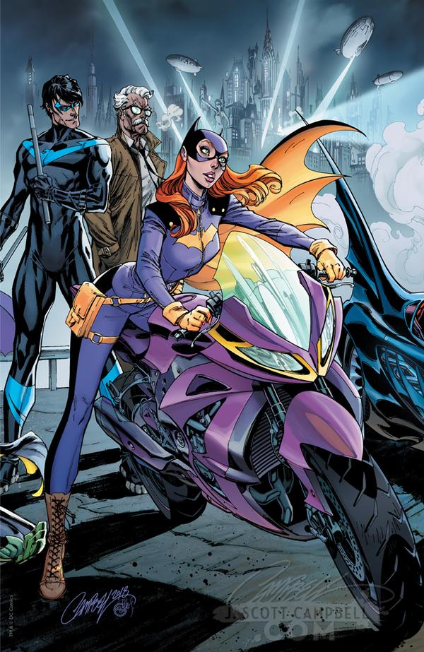 The Groom's Side, Cover C Batgirl on a motorcycle, Nightwing, Gordon
