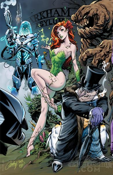 The Bride's Side, Cover D, Poison Ivy and Penguin, Mr. Freeze, Clayface