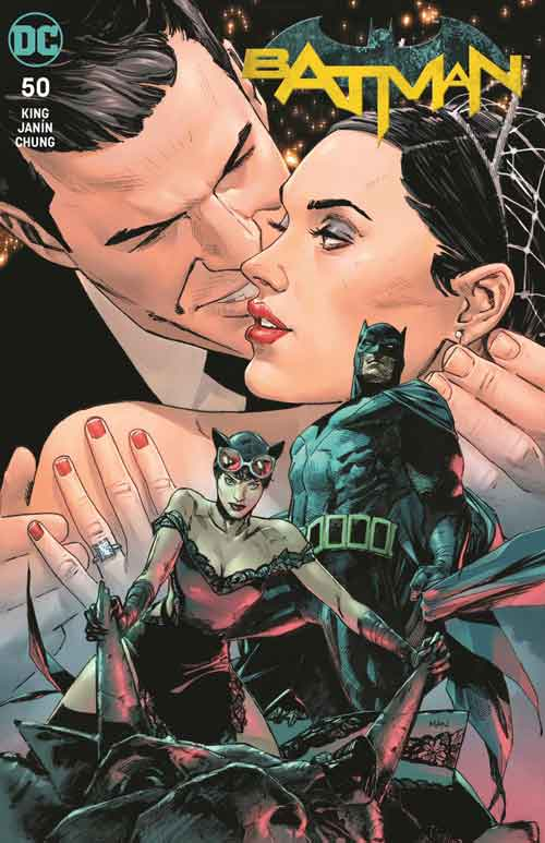 Batman 50 Clay Mann variant with Selina in wedding dress